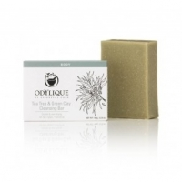 Odylique Tea tree & Green Clay Cleansing Bar 100 g - Essential Care
