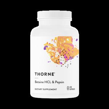 Betaine HCL / Pepsin 450 kapslar– Thorne