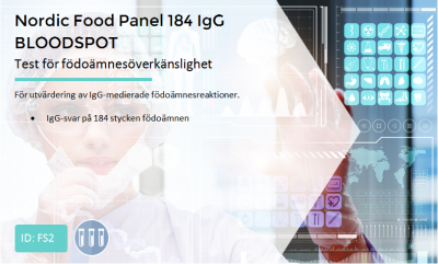 http://Nordic%20Food%20Panel%20184%20IgG%20BLOODSPOT
